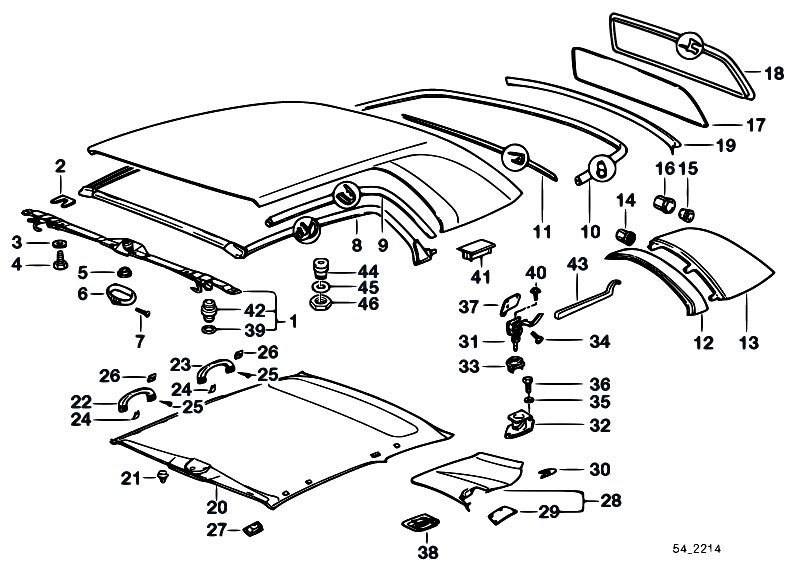 Original Parts for E36 323i M52 Cabrio / Sliding Roof