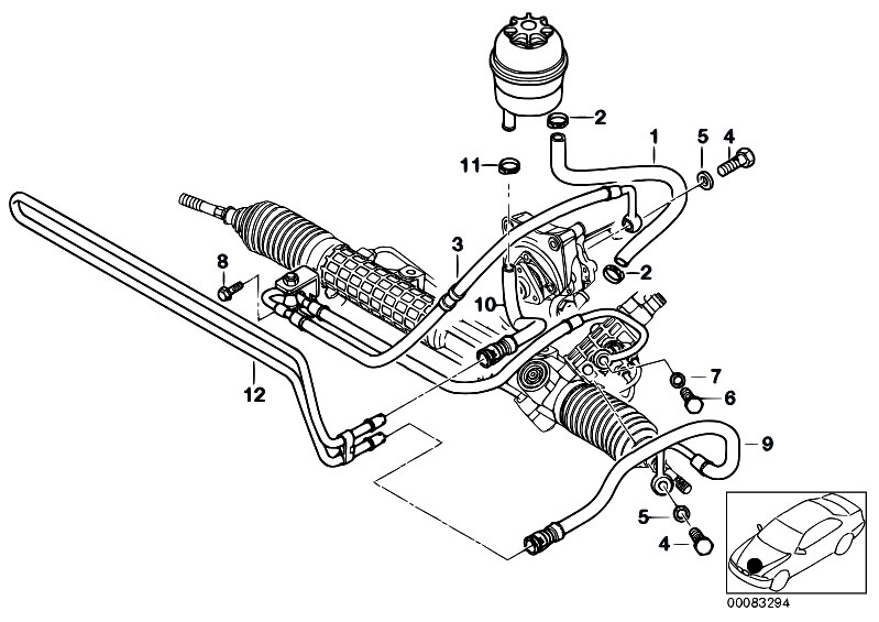 Original Parts for E46 M3 S54 Coupe / Steering/ Hydro