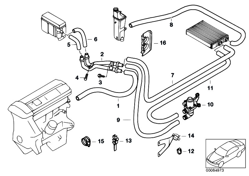 Original Parts for E46 320d M47 Touring / Heater And Air