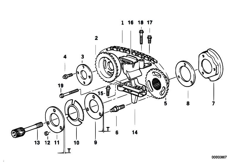 Original Parts for E39 528i M52 Sedan / Engine/ Timing
