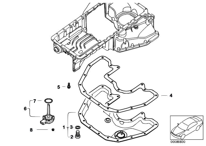 Original Parts for E64 645Ci N62 Cabrio / Engine/ Oil Pan