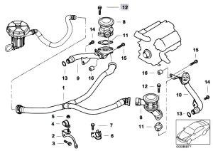 Original Parts for E65 745i N62 Sedan  Engine Emission