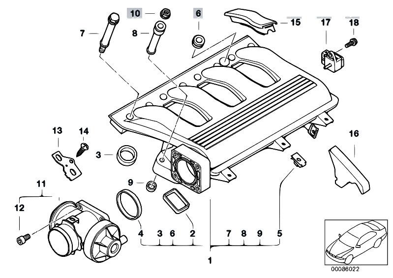 Original Parts for E46 318d M47 Touring / Engine/ Intake