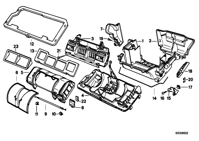 Original Parts for E32 730i M30 Sedan / Heater And Air