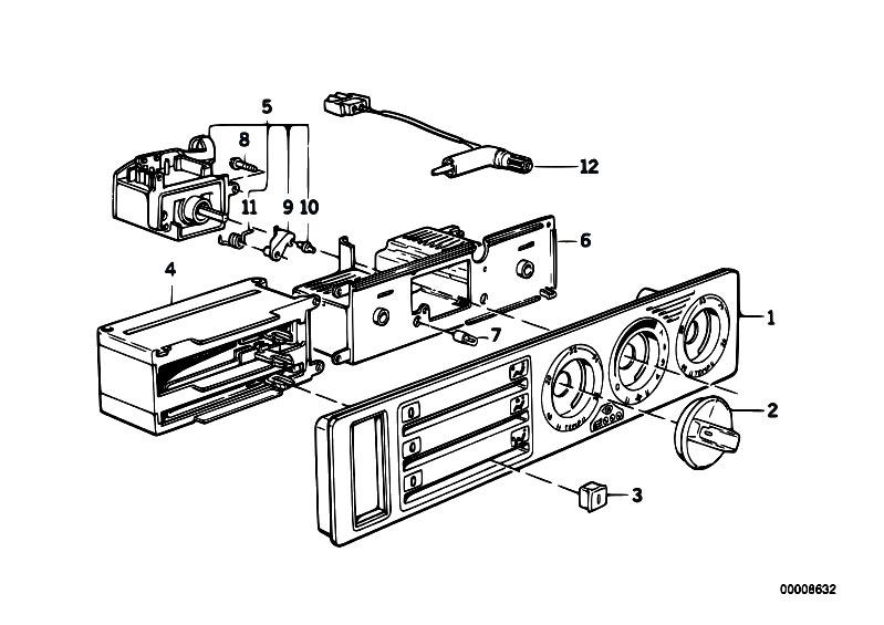 Original Parts for E34 525i M50 Touring / Heater And Air