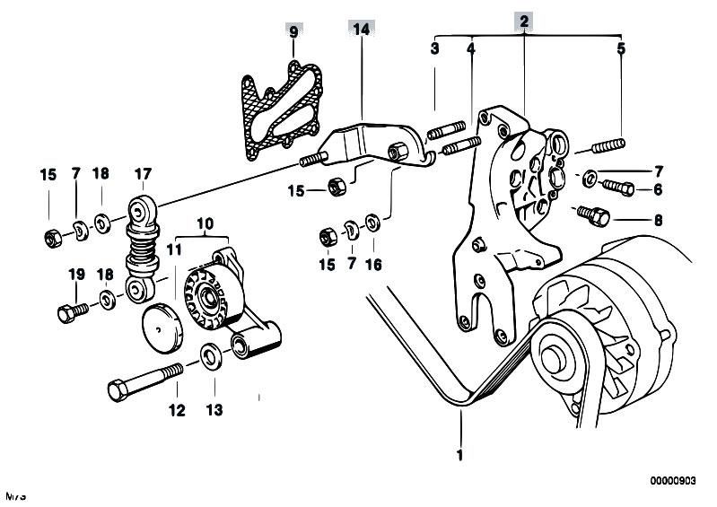Original Parts for E31 850Ci M73 Coupe / Engine/ Belt