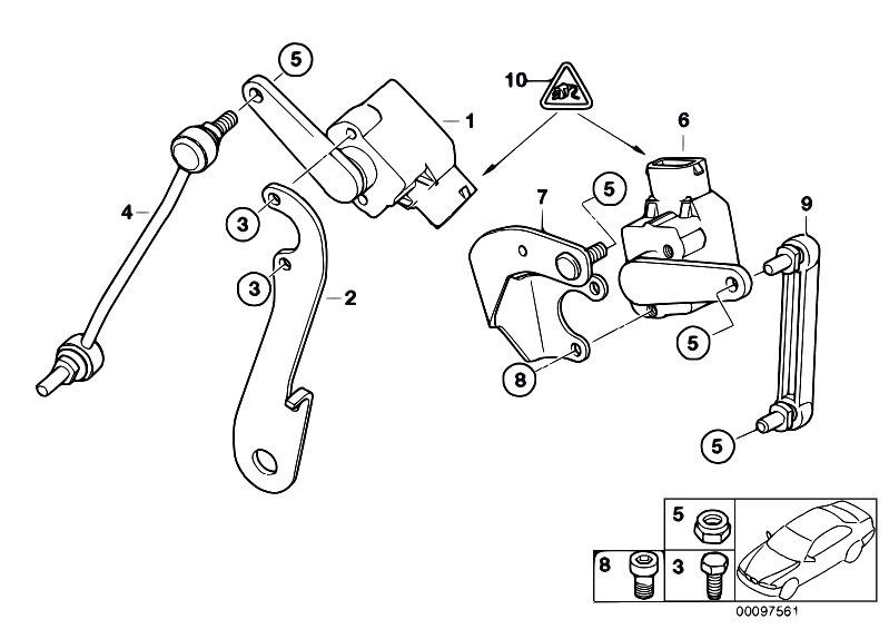 Original Parts for E68 Hydrogen 7 N73 Sedan / Rear Axle