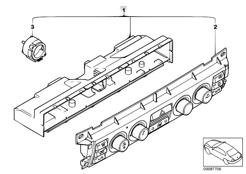 Original Parts for E65 730d M57N Sedan / Heater And Air