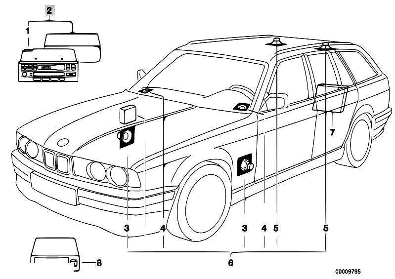 Original Parts for E34 525i M50 Touring / Audio Navigation