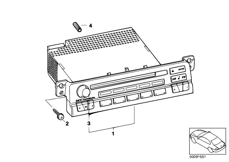 Original Parts for E46 316ti N42 Compact / Audio