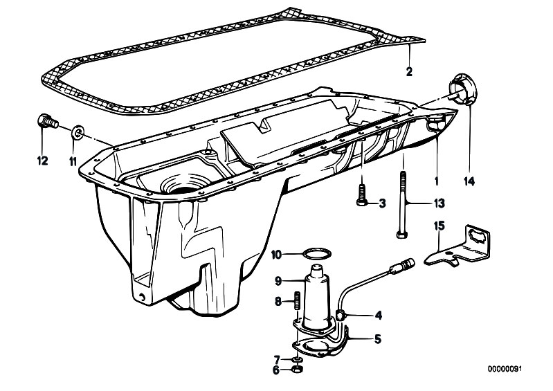 Original Parts for E32 730i M30 Sedan / Engine/ Oil Pan
