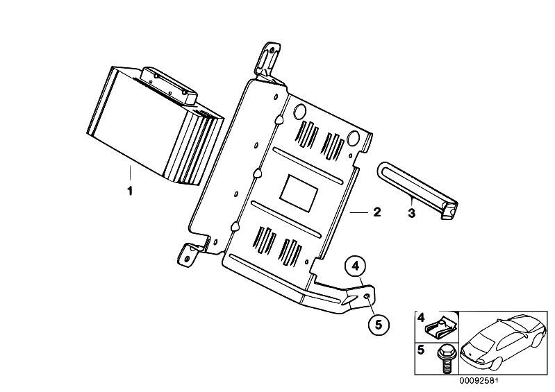 Original Parts for E65 730d M57N Sedan / Audio Navigation