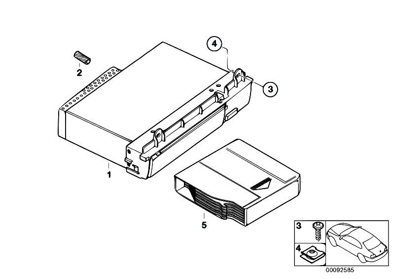 Original Parts for E65 730i M54 Sedan / Audio Navigation