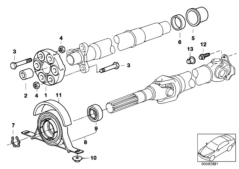 Original Parts for E46 330xd M57 Touring / Drive Shaft