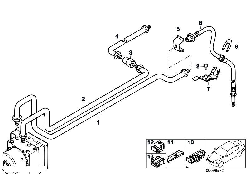 Original Parts for E46 M3 S54 Coupe / Brakes/ Rear Brake