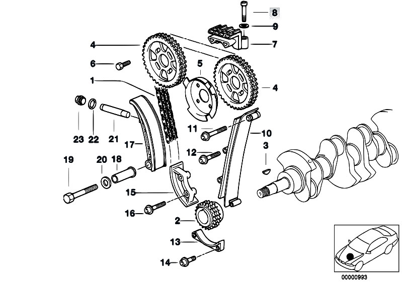Original Parts for E36 318ti M44 Compact / Engine/ Timing