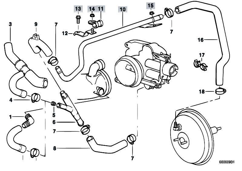 Original Parts for E38 735i M62 Sedan / Engine/ Vacuum