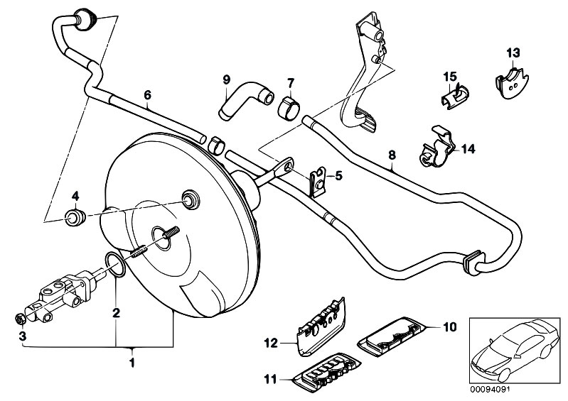 Original Parts for E46 318i N42 Touring / Brakes/ Power