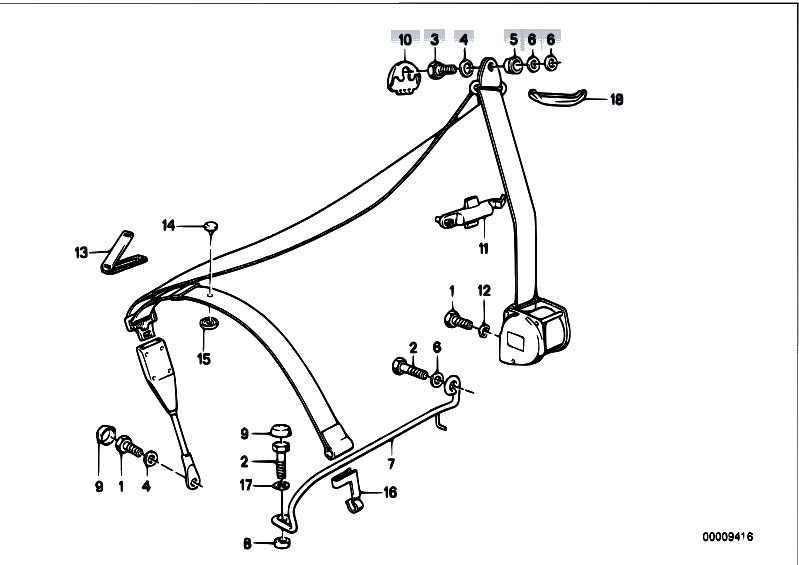 Original Parts for E30 M3 S14 2 doors / Restraint System