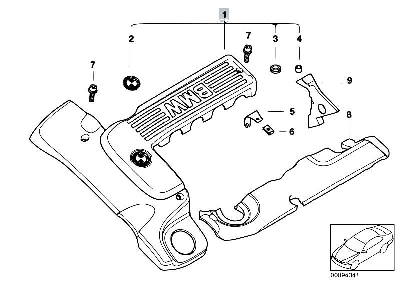 Original Parts for E46 330d M57 Touring / Engine/ Engine