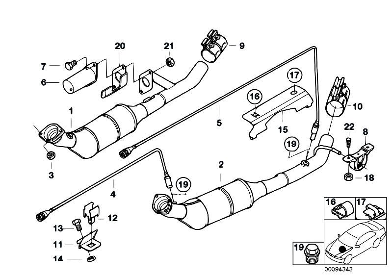 Original Parts for E53 X5 4.6is M62 SAV / Exhaust System