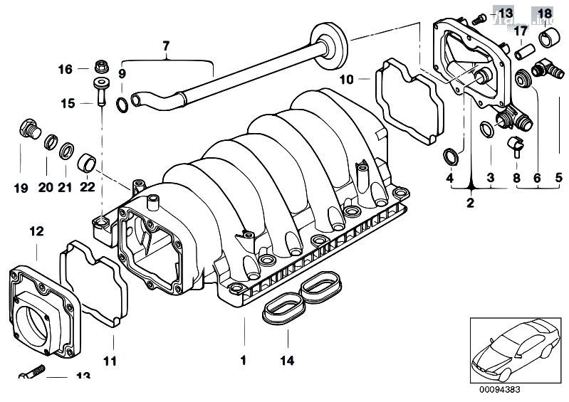 Original Parts for E53 X5 4.6is M62 SAV / Engine/ Intake