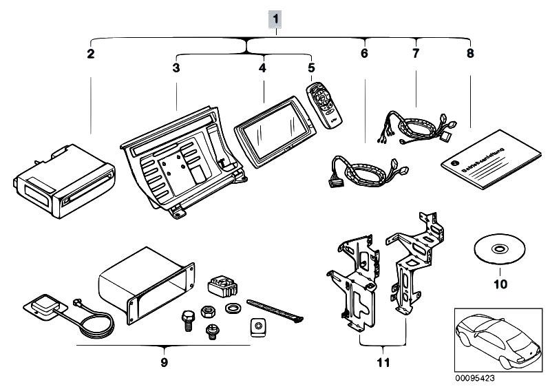 Original Parts for E46 330d M57 Touring / Audio Navigation