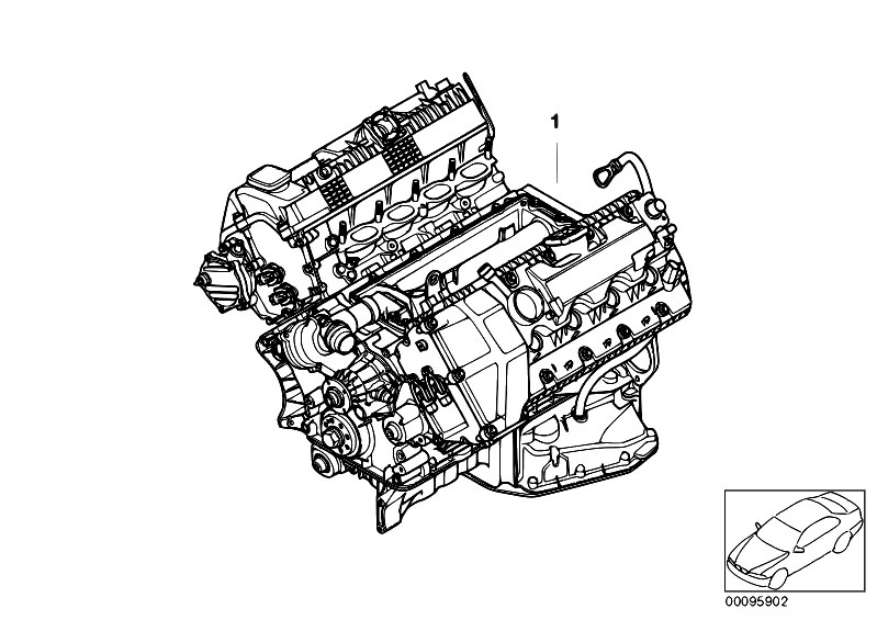 Original Parts for E60 540i N62N Sedan / Engine/ Short