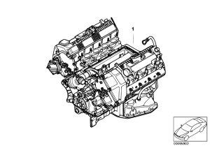 Original Parts for E60 540i N62N Sedan  Engine Short