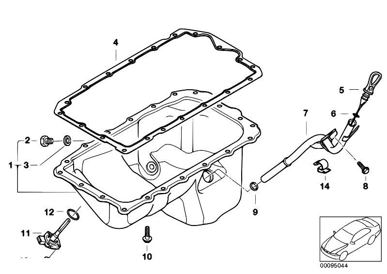 Original Parts for E46 318i N42 Sedan / Engine/ Oil Pan