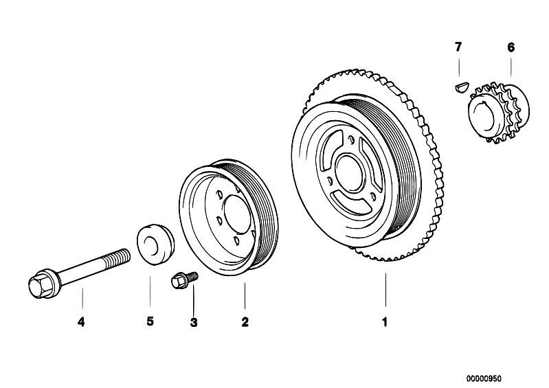 Original Parts for E36 316i M43 Sedan / Engine/ Belt Drive