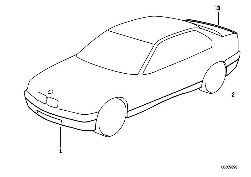 Original Parts for E36 318is M42 Sedan / Vehicle Trim