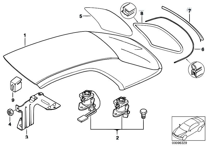 Original Parts for E46 M3 S54 Cabrio / Sliding Roof
