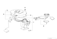 Original Parts for E38 740i M60 Sedan / Fuel Supply/ Metal