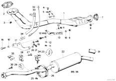 Original Parts for E30 318i M10 4 doors / Exhaust System