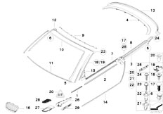 Original Parts for E93 335i N54 Cabrio / Vehicle Trim