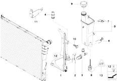 Original Parts for E53 X5 3.0d M57N SAV / Radiator