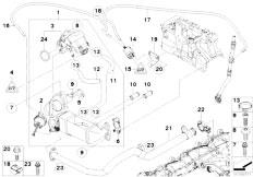 Original Parts for E60N 520d N47 Sedan / Engine/ Lubricat