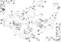 Original Parts for E66 760Li N73 Sedan / Steering/ Add On