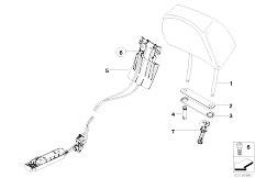 Original Parts for E65 735i N62 Sedan / Seats/ Seat Front