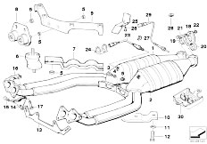 Original Parts for E31 850Ci M70 Coupe / Exhaust System