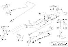 Original Parts for E36 328i M52 Sedan / Exhaust System