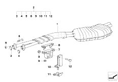 Original Parts for E36 M3 3.2 S50 Coupe / Exhaust System