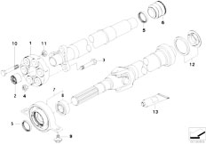 Original Parts for E92 335i N54 Coupe / Drive Shaft/ Drive