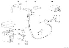 Original Parts for E30 324d M21 4 doors / Engine