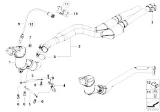 Original Parts for E46 330Cd M57N Coupe / Exhaust System