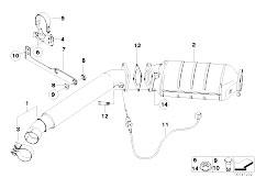 Original Parts for E83 X3 2.0d M47N2 SAV / Exhaust System