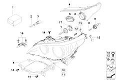 Original Parts for E60 530d M57N2 Sedan / Lighting/ Single
