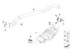 Original Parts for E83 X3 2.0d M47N2 SAV / Exhaust System