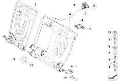 Original Parts for E90 320si N45 Sedan / Seats/ Front Seat